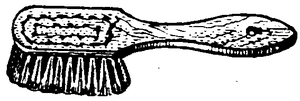 Drawing of a brush similar to a scrubbing brush.