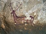 Deer painting in cave