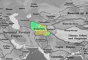 Kidarites - The Kidarite kingdom in 400 CE.