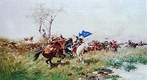 Polish–Ottoman War (1672–76) - Józef Brandt, Attack of the Cavalry