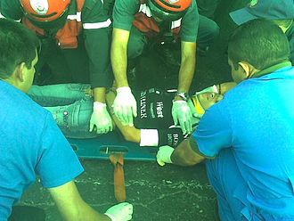 Advanced trauma life support - Image: Atencion Prehospitalaria por estudiantes