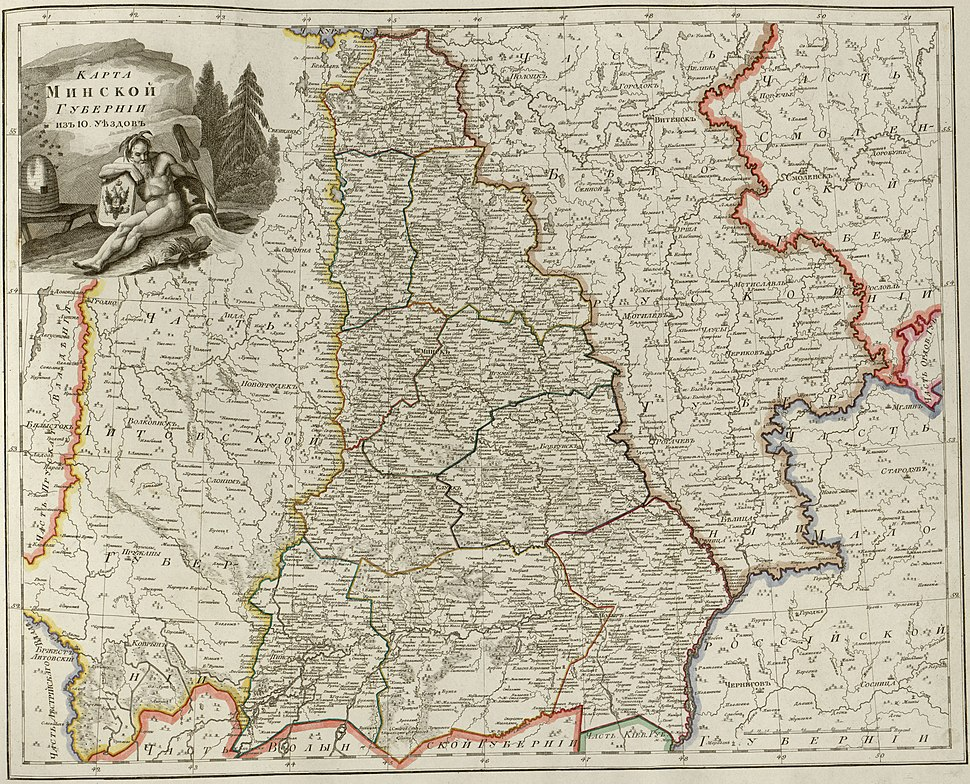 Atlas of Russian Empire (1800). Minsk governorate