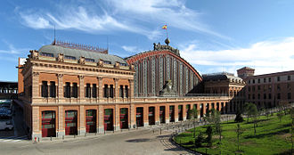 Madrid Atocha railway station - Exterior of old Atocha station