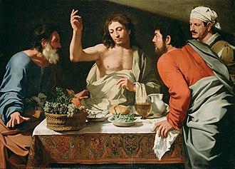 Bartolomeo Cavarozzi -  The Supper at Emmaus, attributed to Bartolomeo Cavarozzi (c. 1615–25)