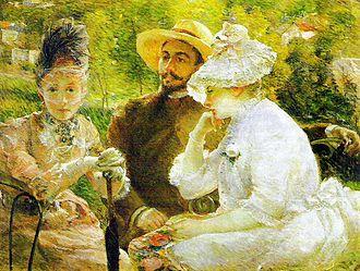 Marie Bracquemond - Image: Auf der Terrasse in Sèvres