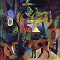 August Macke - Landscape with Cows, Sailing Boat and Figures.jpg