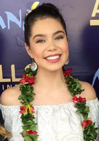 Moana (2016 film) - Auliʻi Cravalho at the film's premiere in Samoa in December 2016