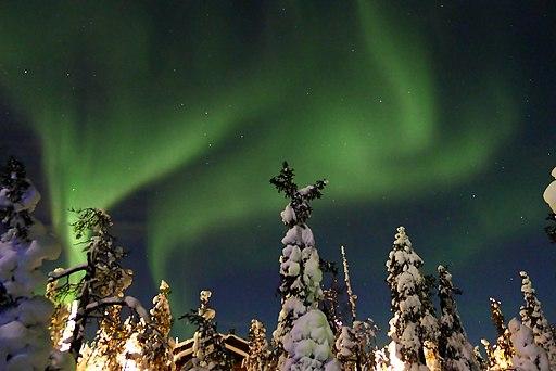 Aurora borealis in Ruka, Finland