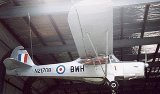 Auster J family - J/1B Aiglet ZK-BWH exhibited at MOTAT Auckland New Zealand in February 1992 wearing RNZAF style markings