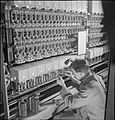 Automatic Telephone Exchange- Communications in Wartime, London, England, UK, 1945 D23695.jpg