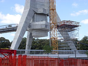 Avala Tower - Image: Avala Tower Construction 3