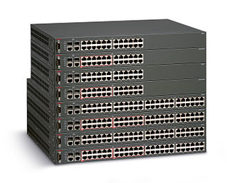 ERS 3500 and ERS 2500 series - Image: Avaya ERS 2500 Stack