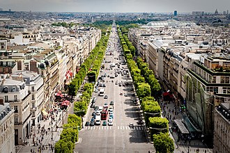 Champs-Élysées - The Champs-Élysées as seen from the Arc de Triomphe