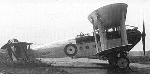 Avro 549 Aldershot - The first prototype in 1924, modified to production standard