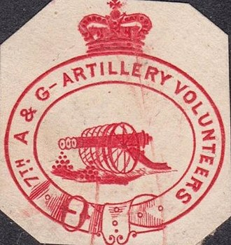 1st Ayrshire and Galloway Artillery Volunteers - Letterhead with crest of one of the Ayrshire and Galloway Artillery Volunteer Corps, c1895