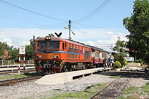 Ayutthaya Railway Station - A train at Ayutthaya railway station