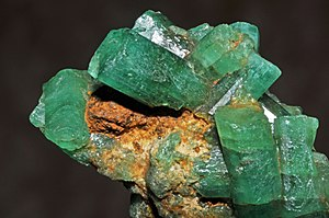 Colombian emeralds - Emeralds, Muzo Mine, Vasquez-Yacopí Mining District, Colombia
