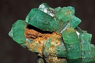 Colombian emeralds - Emeralds, Muzo Mine, Vasquez-Yacopí Mining District, Colombia