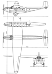 BFW M 20 3-view Aero Digest February 1929.png