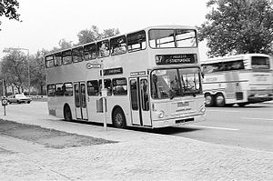Waggon Union - Berlin (BVG) double-decker bus with MAN chassis and Waggon Union body