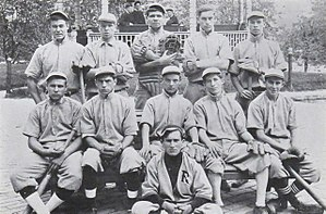 Babe Ruth - Ruth (top row, center) at St. Mary's Industrial School for Boys in Baltimore, Maryland, in 1912