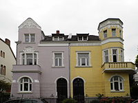 Semi-detached Jugendstil townhouses in Bonn, Germany.