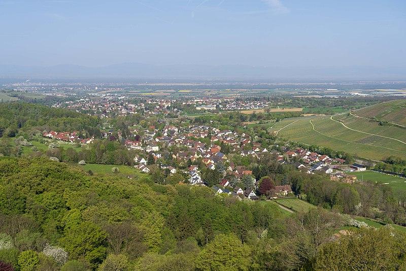 File:Badenweiler - Blick von der Burg Baden.jpg