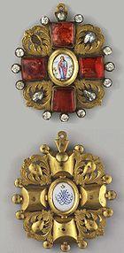 Знак к ордену Св. Анны с бриллиантами, ранний образец конца XVIII века