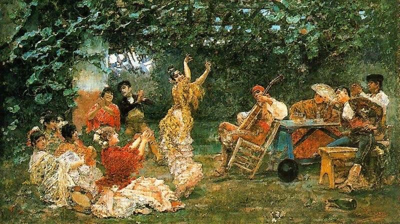 Baile andaluz 1893 Jos%C3%A9 Villegas Cordero
