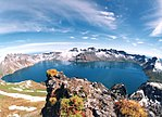 The vertical vegetation and volcanic landscape in the Changbai Mountains