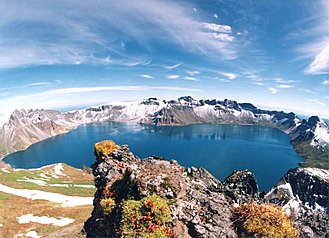 Crater lake - Heaven Lake, North Korea / China