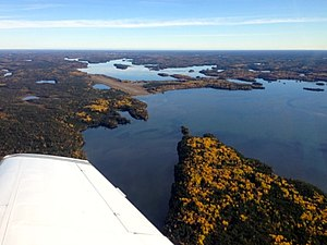 Bakers Narrows - Bakers Narrows, Little Athapap, and the North Arm, as seen from the south