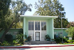 The Baldwin Hills Village Office Building, a National Historic Landmark at Village Green