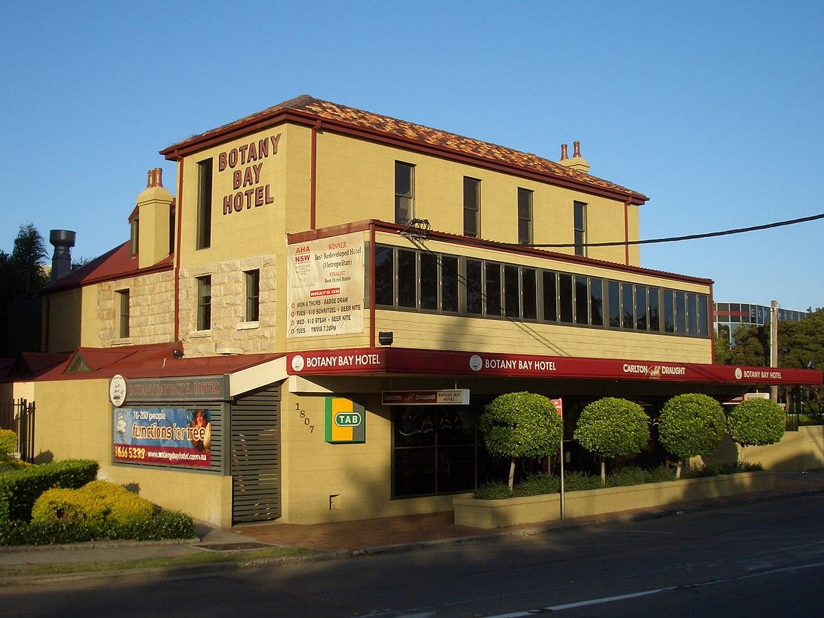 Botany Bay Hotel Restaurant Menu