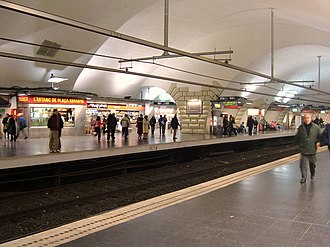 Plaça d'Espanya station - Image: Barcelona metro pl Espanya