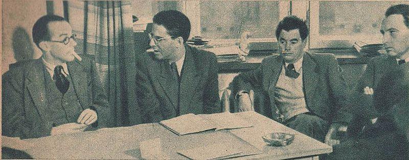 Basil Wright, Joris Ivens, Elmar Klos i Jerzy Toeplitz - Film nr 55-56 - 1948-12-23.JPG