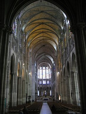 Interior Flying Buttresses French Early Gothic Cathedrals