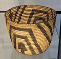 Basket, Pima people, Southern Arizona, undated, coiled willow and devil's claw, cottonwood, bear grass or cattail - Chazen Museum of Art - DSC01875.JPG