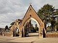 Bassaleg Road entrance to St Woolos Cemetery, Newport - geograph.org.uk - 1709939.jpg