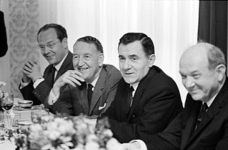 Cold War (1962–1979) - L-R: Llewellyn Thompson, Soviet Foreign Minister Andrei Gromyko and Dean Rusk