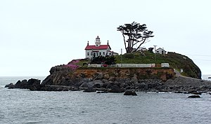 Crescent City, California - Battery Point Lighthouse, viewed from jetty