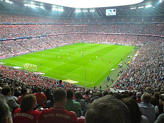 FC Bayern Munich - Bayern Munich playing against Bayer Leverkusen in the Bundesliga in September 2011