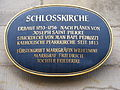 Bayreuth - Schlosskirche (Schild an der Fassade).jpg