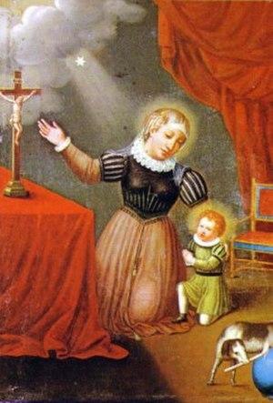Joan of Aza - Juana de Aza with her son St Dominic