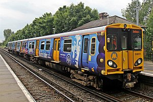 British Rail Class 508 - Merseyrail Class 508 No. 508111 at Hillside