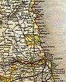 Bedlingtonshire, from Betts's Family Atlas, 1846.jpg