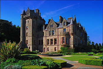 The stunning Belfast Castle taken from the gar...