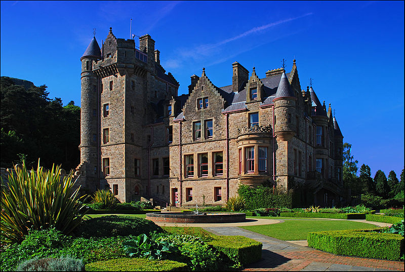 The stunning Belfast Castle taken from the gardens. A very photogenic building which can be hired out for various events.