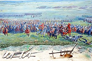 Panorama of the Battle of Waterloo - Image: Belgium 6745C Marshal Ney (14154954584)