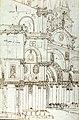 Bellotto Bernardo - Architectural study of the Northern Facade of the Basilica di San Marco opposite S. Basso in Venice - Museum Boijmans Van Beuningen I 326 recto (PK).jpg